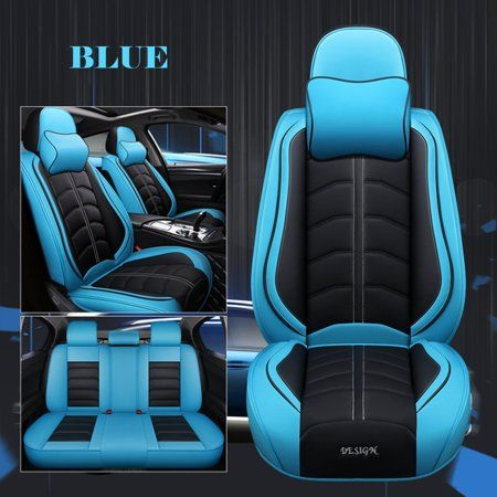 Car Seat Cover 5 Seats Universal Car Suv Pu Leather Cushions Front Rear Seat Covers Split Option Side Asientos De Carro Chicas De Motocross Rines Deportivos