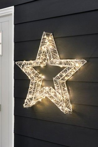 Lit Outdoor Star Decoration From