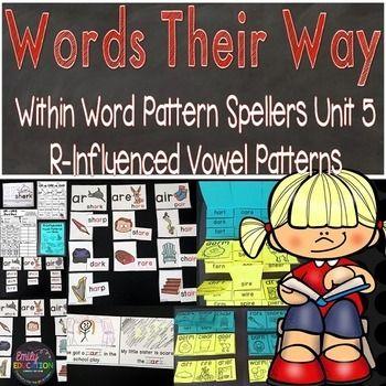 Words Their Way Within Word Pattern Spellers Units 1 5 Bundle Word Patterns Word Sorts Words
