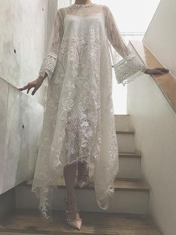 Cute white dress maybe for a bride