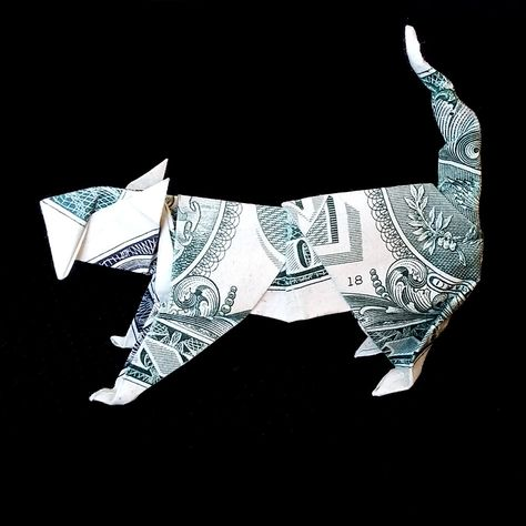 Wild CAT Money Origami Gift Sculpture Real One Dollar Bill by on Etsy