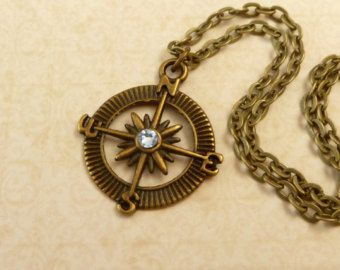 Ancient Map Photo Old Fashion Pendant Necklace Cabochon Glass Vintage Bronze Chain Necklace Jewelry Handmade
