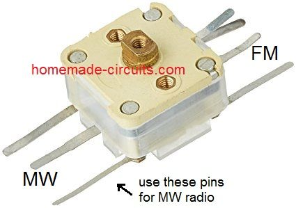 CRYSTAL RADIO Condensateur variable Radio AM 2 Gangs