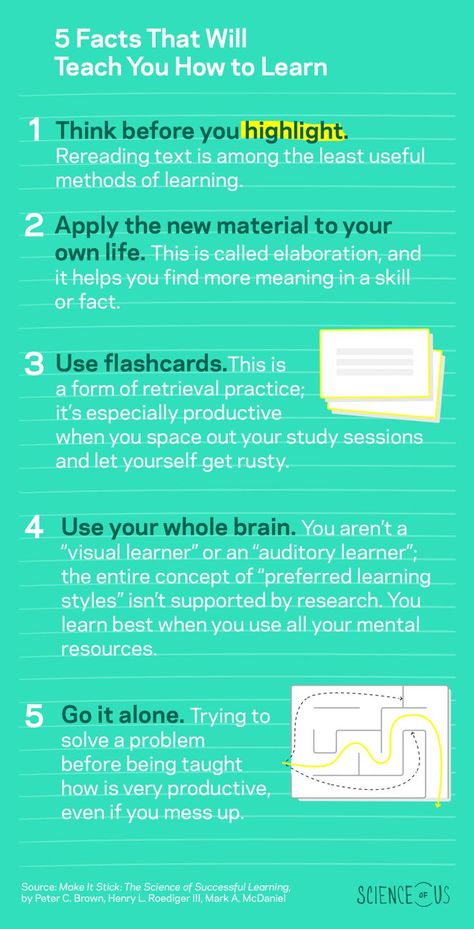 Highlighting Isn't Helping You Remember Anything, and Four More Surprising Facts About Learning