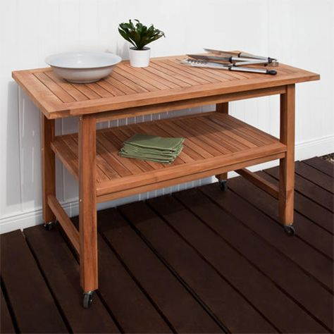Rectangular Teak Grill Table 550 Grill Table Outdoor Furniture Table