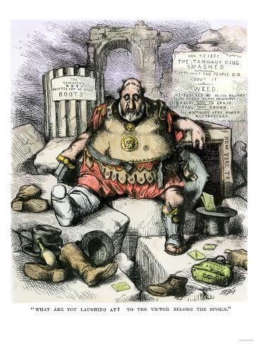 Giclee Print To The Victor Belong The Spoils Thomas Nast Cartoon About Boss Tweed 24x18in In 2021 Giclee Print Art Prints Art