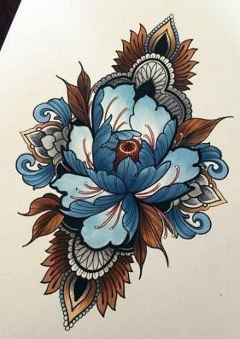 Tattoo Flower Design Sketches Neo Traditional 21 Ideas Tattoo