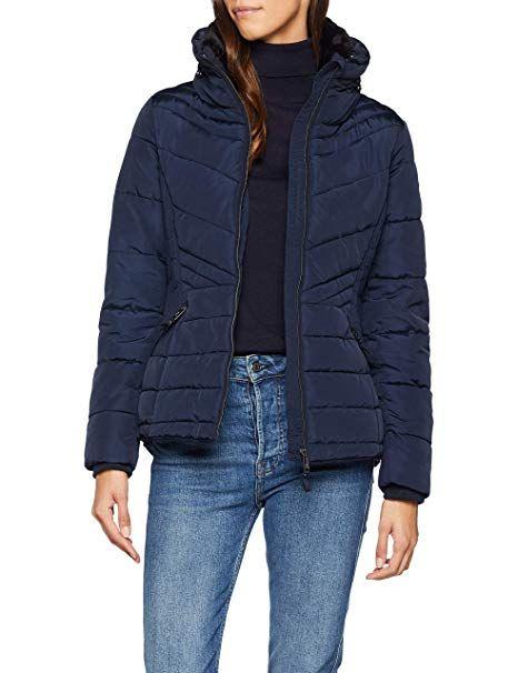 TOM TAILOR Damen Jacke Gesteppte Winterjacke mit sehr hohem