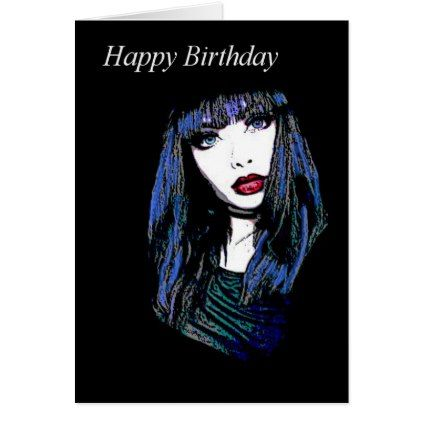 Gothic Happy Birthday Greeting Card Birthday Cards Invitations