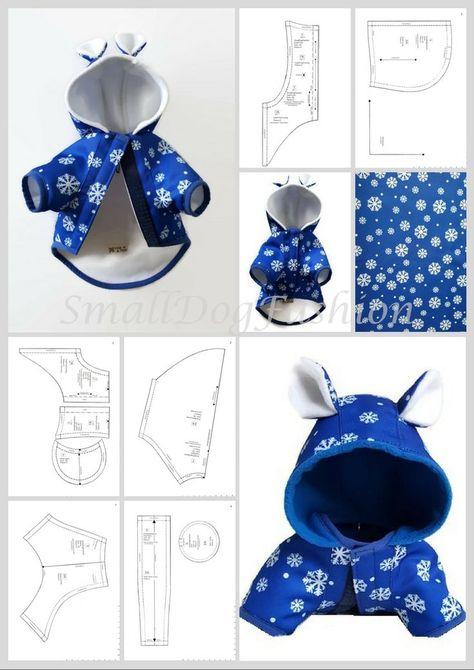 Hundemantel Muster Hundekleidungsmuster zum Nähen Kleiner Hundekleidungsmuster Hundemantel Schnittmuster PDF Hundekleidung PDF-Muster für XS-Hund  #dogclothes #hundekleidungsmuster #hundemantel #kleiner #muster #nahen