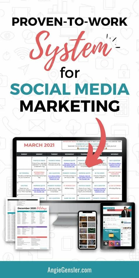 Get results on social media and save hours of time and stress with this proven-to-work system for social media marketing. It's 365 days of post ideas and hundreds of images planned out for you in an editable and customizable format to fit your business needs. #socialmediamarketing #marketingtips #contentcalendar