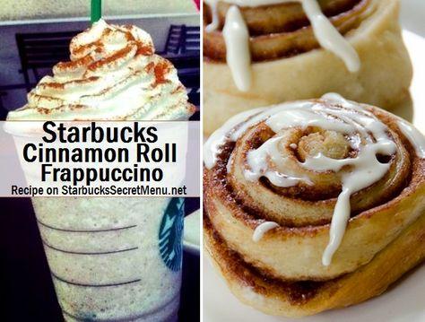 Starbucks Cinnamon Roll Frappuccino! #StarbucksSecretMenu Recipe here: http://starbuckssecretmenu.net/starbucks-secret-menu-cinnamon-roll-frappuccino/