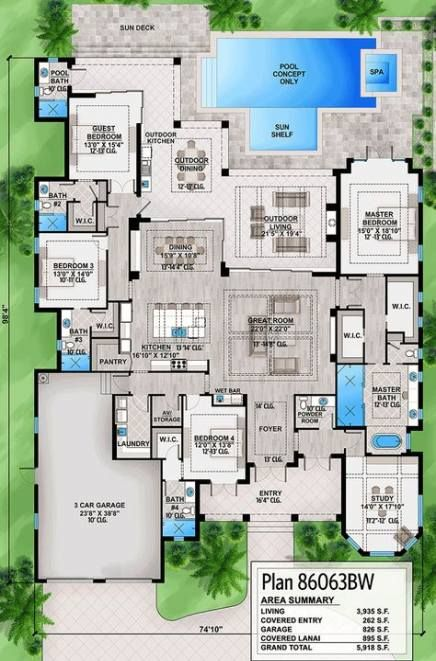 Pin By Robert Pendley On Dream House Architectural Design House Plans Southern House Plan Floor Plan Design