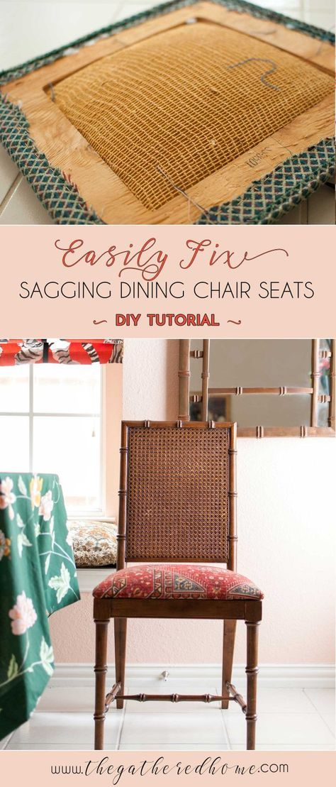 How To Fix A Sagging Dining Chair Seat The Gathered Home Dining Chairs Dinning Room Chairs Antique Dining Chairs