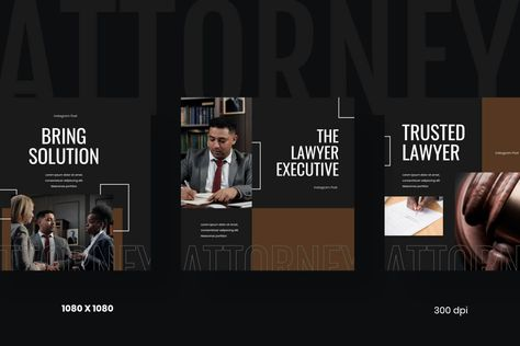 Attorney - Law & Firm Instagram Post Template Social Media