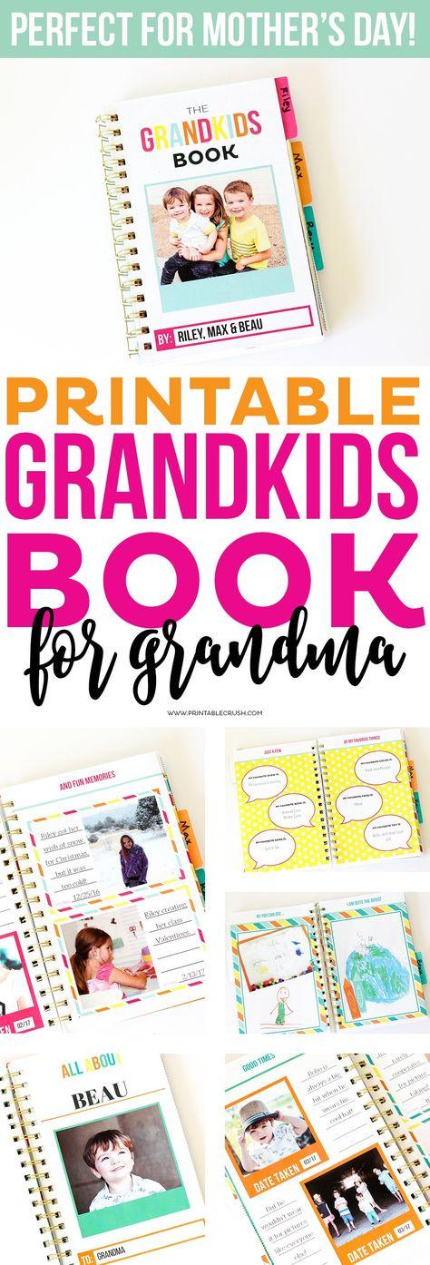 PRINTABLE GRANDKIDS MEMORY BOOK
