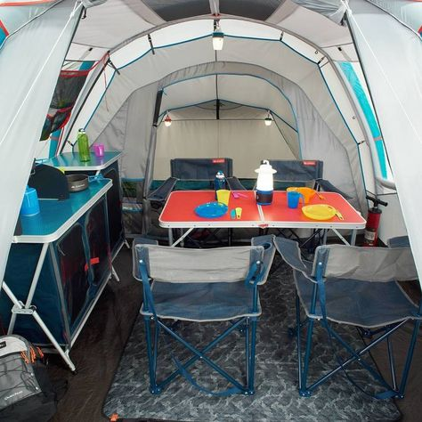 Tente Gonflable De Camping Air Seconds 4 1 4 Personnes 1 Chambre Tente Gonflable Camping En Tente Gonflable