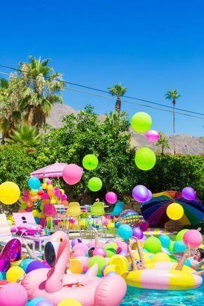 An Epic Rainbow Balloon Pool Party Studiodiy Com
