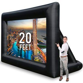 Airblown Inflatables Movie Screen With Storage Bag Walmart Com Outdoor Projector Screens Inflatable Movie Screen Outdoor Movie Screen