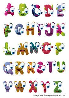 Elements Of Funny Alphabet Vector Graphic