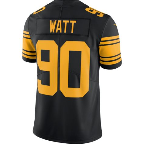 959f29015af Pittsburgh Steelers #90 TJ Watt Limited Color Rush Jersey ...