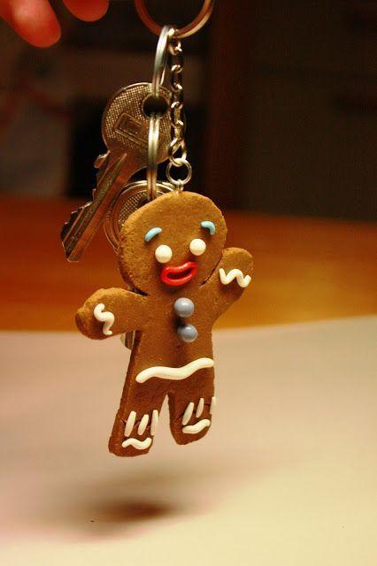 10pcs Gingerbread Man Christmas Handmade Polymer Clay Pendant Charm Making DIY