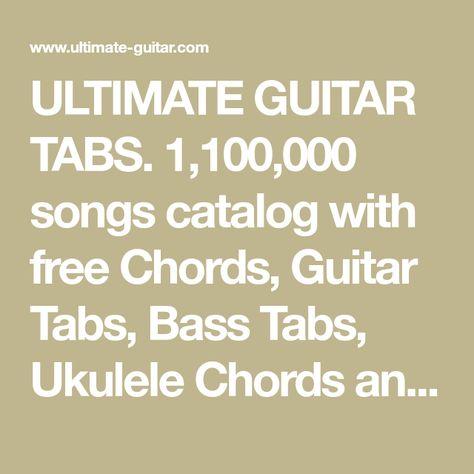 free ultimate guitar tabs