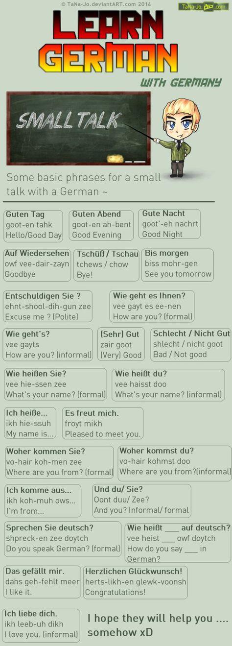 Learn German - Phrases - Talking by TaNa-Jo on DeviantArt