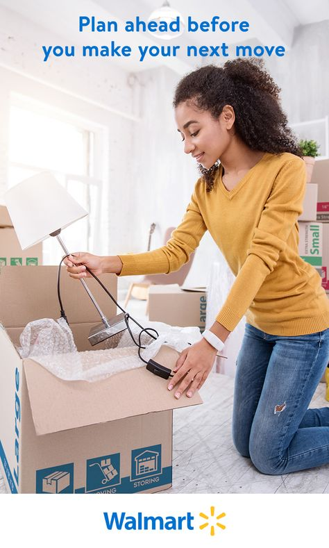 Whether your items are headed to a new home or temporary storage, Walmart has boxes, packing tape, bubble wrap, and all the moving supplies to keep things tidy and safe.
