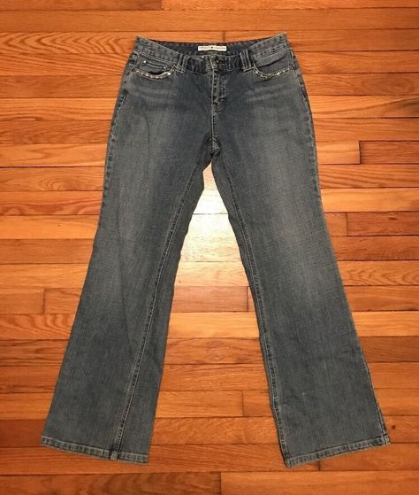 Details about Women's Tommy Hilfiger Low Rise Boot Cut Jeans Size 8