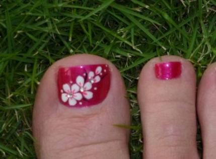 Nails Beach Designs Hawaiian Flowers 30 Ideas Pedicure Designs Toenails Toenail Art Designs Flower Toe Nails