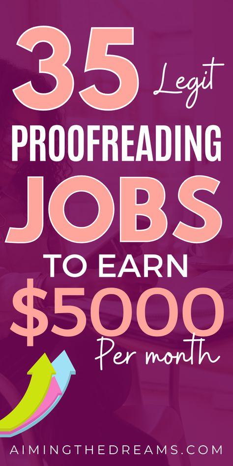35 proofreading jobs online ($30/hr)