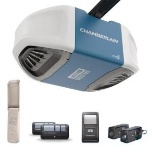 Chamberlain 1 2 Hp Ultra Quiet Belt Drive Garage Door Opener B510 Chamberlain Garage Door Opener Best Garage Doors Smart Garage Door Opener