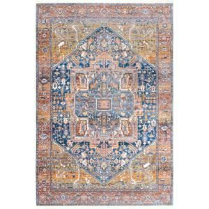 Nuloom Ehtel Medallion Fringe Rust 8 Ft X 10 Ft Area Rug Khmc04a 8010 The Home Depot Vintage Area Rugs Area Rugs Orange Area Rug
