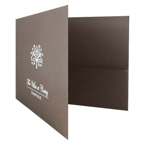 Landscape Pocket Presentation Folder - Company Folders, Inc - resume portfolio folder