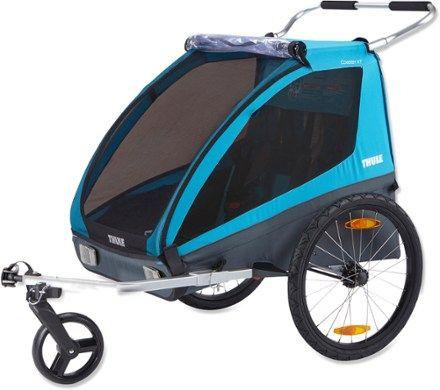 Thule Coaster Xt Bike Trailer Blue In 2020 Thule Bike Bike Bicycle