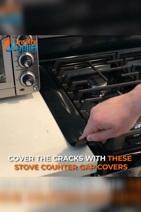 Stove Counter Gap Covers 😍  These silicone Stove Counter Gap Covers (Set of two!) keep foods and sauces from dripping between the stove and counter and they also keep small items like socks, coins and dryer sheets from slipping into the crevice between your washer and dryer.  Currently 50% OFF with FREE Shipping!