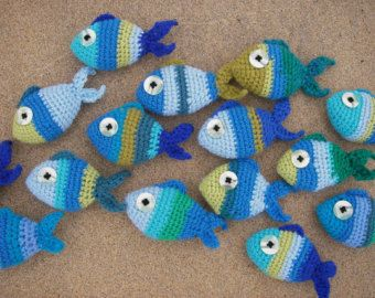 Amigurumi Fish Tutorial : Tropical fish sets eight amigurumi fish crochet patterns