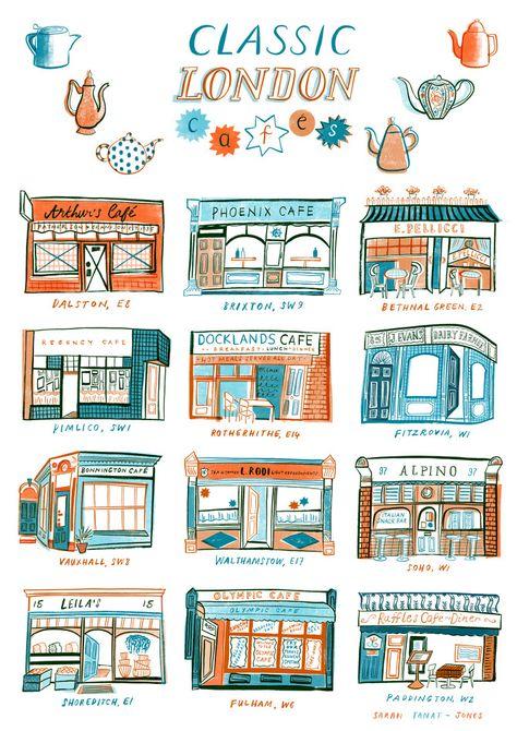A whistle-stop tour of Sarah Tanat-Jones' London illustrations