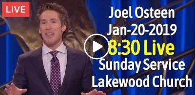 Sunday Service Lakewood Church 8:30 (January-20-2019) Joel Osteen