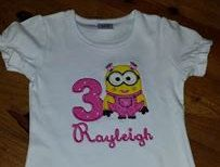 Minion Birthday Applique Shirt 2nd Design Girls