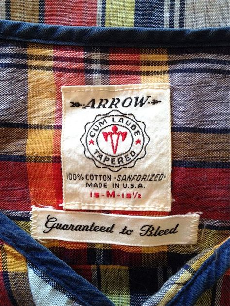 Vintage label -guaranteed-to-bleed