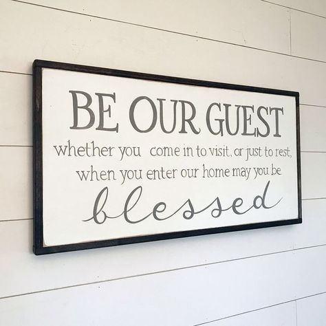 Be our Guest Sign May you be blessed Farmhouse Decor | Etsy
