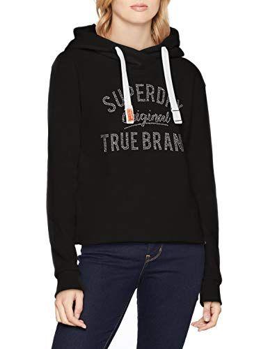 SUPERDRY Hoodie schwarz Gr. L large Kapuzen Pullover