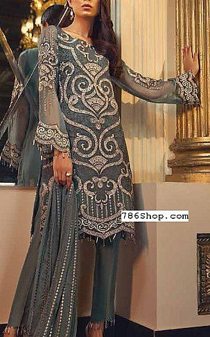 Grey Chiffon Suit Buy Jazmin Pakistani Dresses And Clothing Online In Usa Uk Designer Party Wear Dresses Fashion Dresses Pakistani Dresses