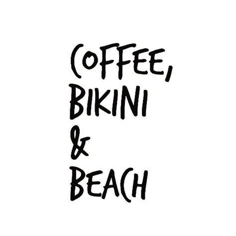 Bikini beach coffee