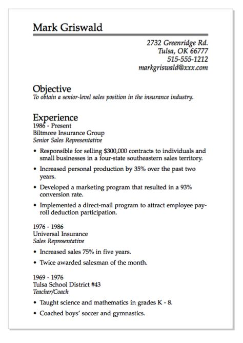 Guide Scannable Resume Samples   Http\/\/exampleresumecvorg\/guide    Insurance  Insurance Sales Resume