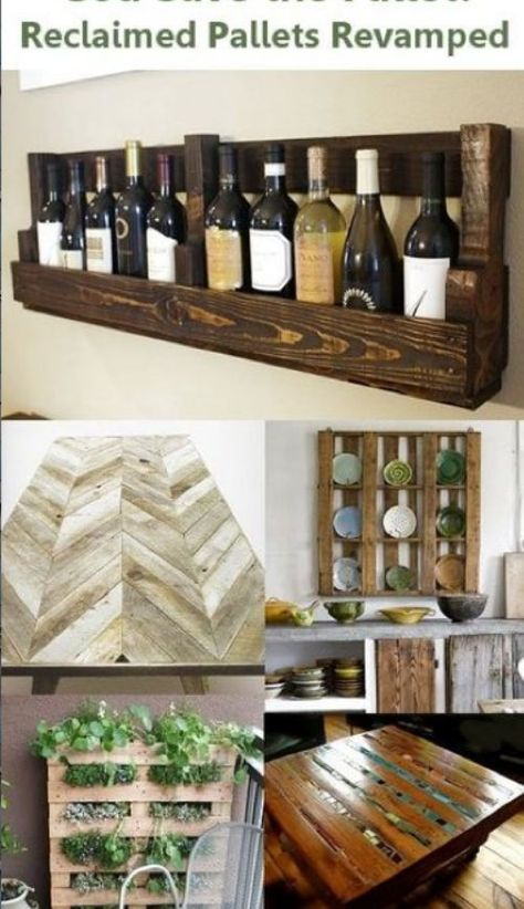 Awesome ideas for pallets that have been reclaimed!