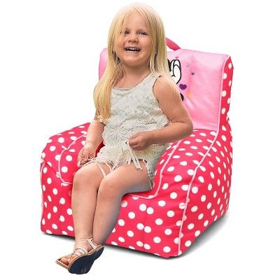 Magnificent Minnie Mouse Toddler Bean Bag Chair With Handle Disney Short Links Chair Design For Home Short Linksinfo