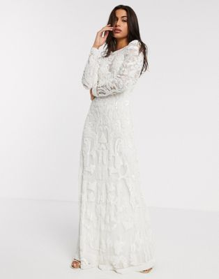 Asos Edition Alice Beaded Placement Wedding Dress Asos In 2020 Asos Wedding Dress Wedding Dresses Beaded Affordable Bridesmaid Dresses